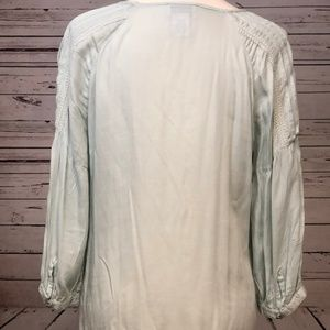 Soft Surroundings Tops - Soft Surroundings Lace Tunic Blouse Medium Green